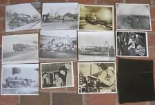 Vintage Lot 13 images train and railroad Large 1940's  B & W  Engines, yards