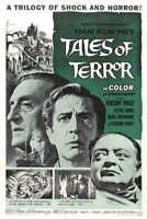 1962 TALES OF TERROR VINTAGE HORROR MOVIE POSTER PRINT 36x24