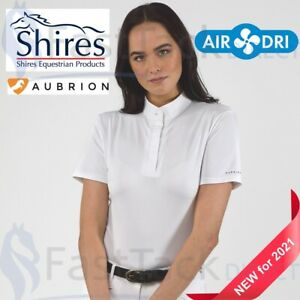 STOCK SHIRT   Shires Aubrion Ladies Short Sleeve Competition Show Shirt UK 6-18