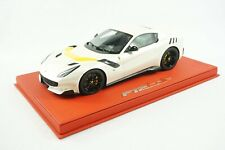 1/18 BBR FERRARI F12 TDF FUJI WHITE/YELLOW STRIPE DELUXE RED LEATHER BASE N MR