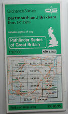 1980 old OS Ordnance Survey 1:25000 Pathfinder map SX 85/95 Dartmouth & Brixham