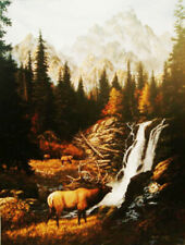 FRANK D. MILLER HIGH MOUNTAIN PEACE ART PRINT SOLD OUT DOUBLE MATTED FRAMED NEW