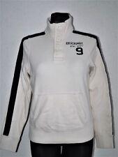 Abercrombie & Fitch womens cotton long sleeve white sweatshirt size L