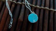 Empowering Jewelry Blue Howlite Round Silver Tone Alloy Necklace Bijoux Boho