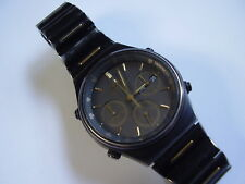 Vintage Seiko 7a38 mens quartz chronograph wristwatch