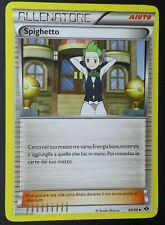 EXC POKEMON Allenatore SPIGHETTO 86//99 AIUTO Holo Reverse in Italiano
