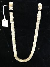 African Ostrich Egg Necklace. Hand Rolled.   29  Inches  long