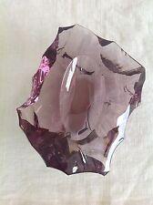BACCARAT Pièce d'art Tirage UNIQUE 1971 Cristal taillé poli fossiles coquillage