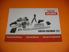 SACHS DOLMAR CHAINSAW 123 REPAIR SERVICE MANUAL NEW   -----------------  BOX2297