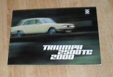 Triumph 2000 & 2500 TC Brochure 1974 - Saloon & Estate