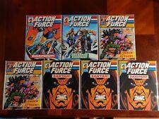 Marvel Comics Action Force #4 5 7 9 7 Magazine Comic Book Lot G.I. Joe