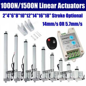 "12Volt 2""-18"" Linear Actuator Cylinder Lift 1000N 1500N Electric Putter Motor DO"