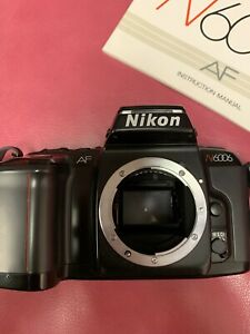 Nikon N6006 AF Body Only w/instructions  Working /Door Not Closing Pristine