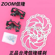 New 2016 ZOOM DB 280 MTB MECHANICAL DISC BRAKE CALIPERS set & 2x 160mm rotors