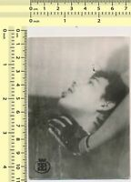 #073 1980's Man Choking Hand Guy Glove Out of Frame Abstract Surreal old photo