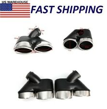 For Mercedes-Benz W211 Exhaust Pipe Dual Tip 2002-2007 1Pair