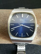 Vintage 1970s Seiko Watch Blue Dial  4100-5029 Working