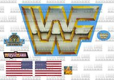WWF/WWE Hasbro 1990 Blue Ring Pre-Cut Replacement Stickers/Decals WCW NWO Mattel