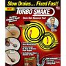 Turbo Snake Drain Hair Clog Remover - 3 piece set Sink/Shower - As Seen On TV