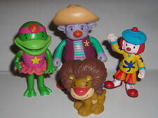 """DISNEY JOJO'S CIRCUS LOT OF FOUR 3.5"""" & 2.5"""" TOY FIGURE CAKE TOPPERS"""