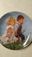 4 Vintage Collectible Plates Jack & Jill Little No Peep Morning Song & Katie
