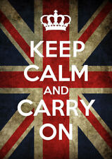 Keep Calm and Carry On 42cm x 60cm Poster Print