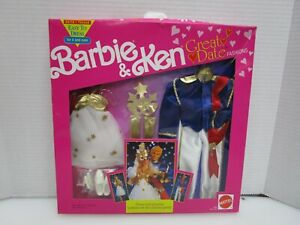 1991 Mattel Barbie & Ken Great Date Prince & Princess Fashions #2971 NRFB