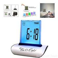 7 Colors Changing Table Clocks LCD Screen Push Alarm Clock Multi-Functional Desk