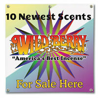 "100 Wild Berry Hand Dipped 11"" Incense Sticks Assortment of 10 Newest  Scents"