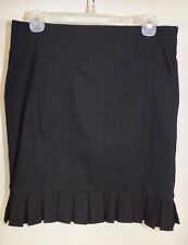 New Grass Collection Sz 7 Skirt Black Pleated Hem