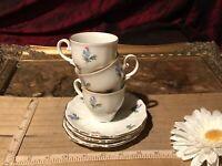 3 Seltmann Weiden Bavaria Theresia Demi Tea Cup & Saucer Floral Flowers