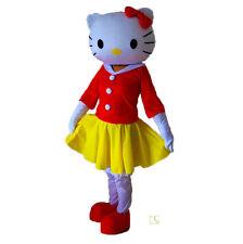 2017 Fashion Hello Kitty Cute Fancy Dress Mascot Costume Cartoon Character Gift