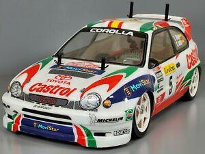 Custom Tamiya R/C 1/10 Toyota Corolla WRC Castrol with TA02 Chassis Futaba servo