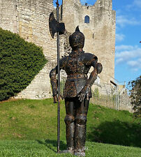 Small Rusty Knight Metal Suit of Armour Statue Medieval King Arthur Home/Garden