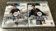 PlayStation 3 PS3 Fifa Soccer Games Bundle - Fifa 13 + Fifa 14 CIB - Tested