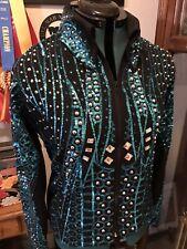 Western pleasure  horsemanship Showmanship Parade Turquoise Sequin Show Jacket