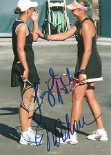 Nadia Petrova Liezel Huber Tennis 5x7 Photo Dual Signed Auto