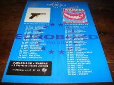 PARABELLUM - LES WAMPAS - DATES TOURNEE 1990 !!!!!!