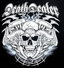 SKULL DEATH DEALER EVIL DEMON SATAN LUCIFER RAM HORN BIKER SWEATSHIRT W8