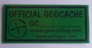 4 x GPS Geocaching Small geocache stickers.