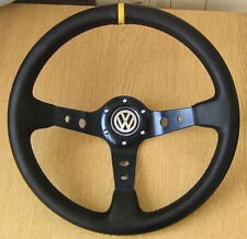 Deep Dish Rally Steering Wheel VW GOLF mk1 mk2 mk3 GTI POLO 6n2 T4 Corrado Jetta