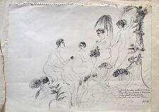BOURGOGNE GUSTAVE DESSIN A L'ENCRE 1956