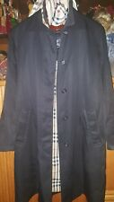 Burberry Black Vintage Burberry Trench Coat Women/Ladies Size 10 Check Lining