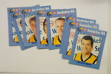 AFL 1999 West Coast Eagles set of 9 cards issued by Healthway
