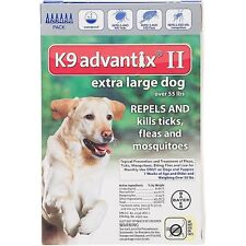 Bayer K9 Advantix II for  Extra Large Dogs over 55 lbs - 6 Pack - FREE Shipping!
