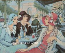 Cross Stitch Chart ART DECO LADIES IN PARIS -  No.1-119 (Large Print)