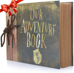 UK Photo Album Scrapbook Our Adventure Book Memory Anniversary DIY Xmas Gift