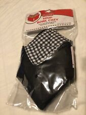 New listing Campbells Soup Bowl Cozy Black White Solid Gingham Cloth Evriholder Products New
