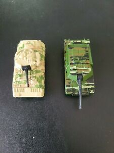 Matchbox Tank Lot Of 2 Green Tan 1994 1997 Bradley M2 Vehicle Abrams