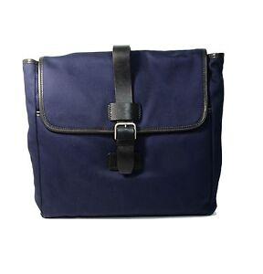 Lacoste Fitzgerald Men Flat Messenger Crossbody Bag Dark Navy - NEW